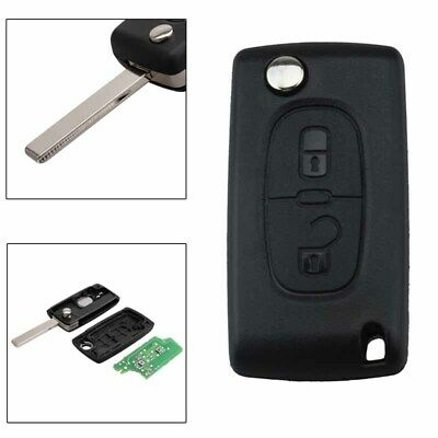 2 Button Folding Flip Remote Locking Key Fob with Chip Fit for Peugeot Citroen