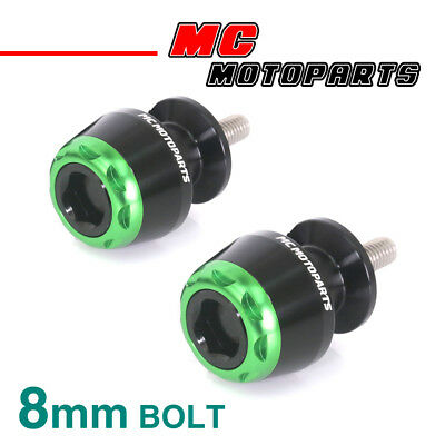MSHINE Green CNC Swingarm Spools Sliders For Kawasaki ZX-6R 636 2013-2017 13 14