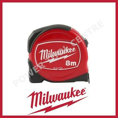 Milwaukee 48227708 Pro Compact Tape Measure 8m Metre Meter Jobsite Durable S8-25