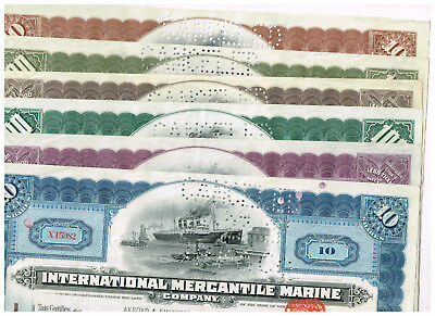 Collectors' Set 6 International Mercantile Marine Co., 1910-20s, ALL different