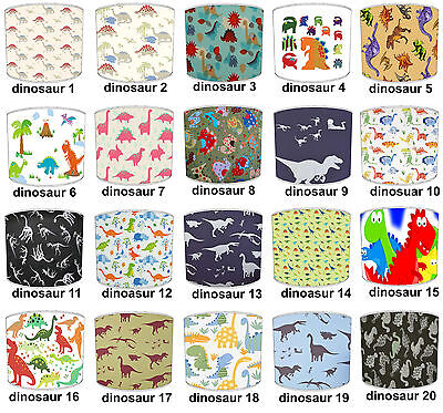 Kids Dinosaurs Lampshades, Ideal To Match Dinosaurs Bedding Sets & Duvet Covers.