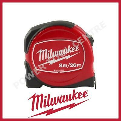 Milwaukee 48227726 Pro Compact Tape Measure 8m/26ft Jobsite Durable S8-26/25