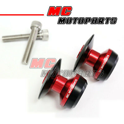 Red Twall Racing M8 Swingarm Spools Sliders For Kawasaki ZX-10R Ninja 2011-2017