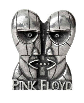 Pink Floyd Lapel Badge Division Bell Heads logo new Official Alchemy Silver