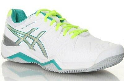 E553Y Womens Ladies ASICS Gel Resolution 6 Clay Court Tennis Shoes Trainers Size