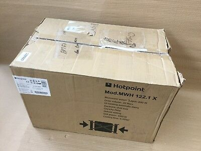 Hotpoint Mwh122 1x Built In Microwave With Grill Stainless Steel 128929