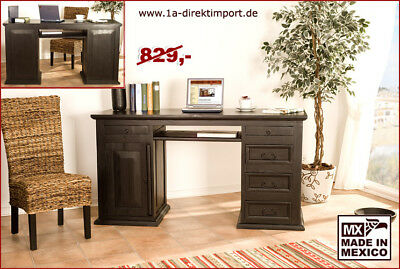 schreibtisch indigo computertisch tisch in eiche durance kolonialstil eur 119 95 picclick de. Black Bedroom Furniture Sets. Home Design Ideas