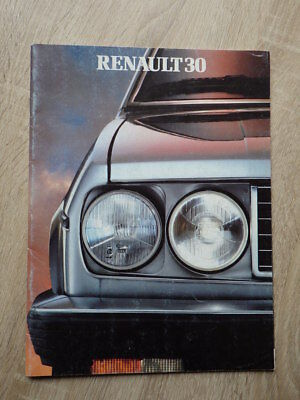 AUTOMOBILE BROCHURE CATALOG SALES RENAULT 30 R30 TX V6 Modele 1983