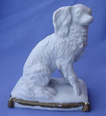 Antique Cavalier King Charles Spaniel Parian Dog 5""