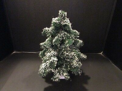 """Vtg Dept 56 11.5"""" Tall By 9"""" Wide Snow Covered Pine Christmas Tree Used"""