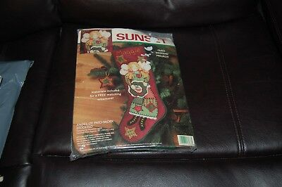 **Vintage Sunset Easy Felt & Patchwork Weekend Project Stocking Kit**