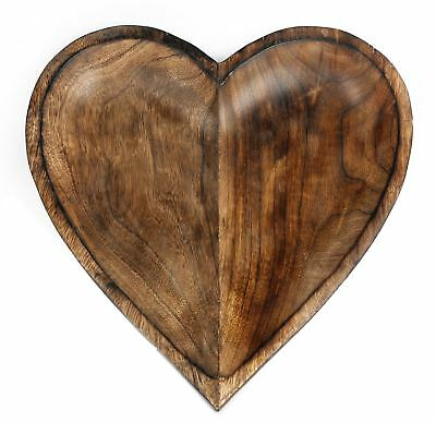 Heart Of The Home Decorative Wooden Heart Bowl 30cm x 30cm