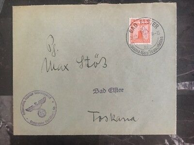 1939 Bad Elster Germany Advertising Cover Domestic Used