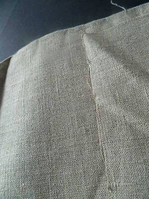 """Antique rustic unbleached Irish linen fabric 52"""" x 33"""" (5 lots available)"""