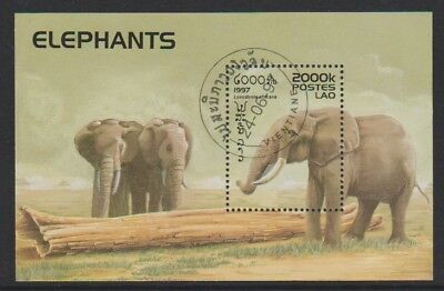 Laos - 1997, Elephants sheet - CTO - SG MS1576
