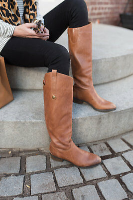 a4aa777918cd79 SAM EDELMAN Penny Riding Boots Tall Leather Zip Brown 6.5 7 7.5 8 8.5 9 10