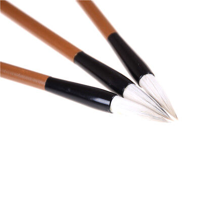 3pcs Chinese Japanese Water Ink Painting Writing Calligraphy Brush Pen White Pip