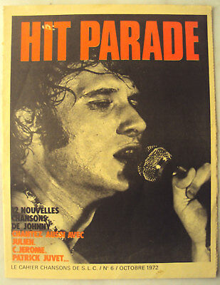 Cahier Chansons Salut Copains Slc N° 6 Octobre 1972 Hit Parade Johnny Paroles
