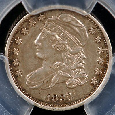 1833 Capped Bust Silver Dime PCGS XF45