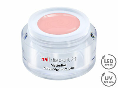 Premium Masterline Allround Gel UVLED standfest soft rose 15ml 1Phasen 3in1 dick