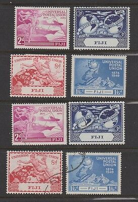 FIJI  141-44 UPU set 1949 mint & used
