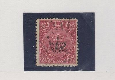 FIJI  39 overprint on 6p 1877