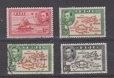 FIJI  132-35 Geo VI 1940-49 Redrawn set complete used