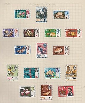 FIJI  260-276 Queen Eliz complete set used 1969