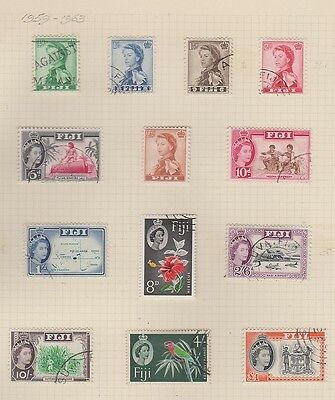 FIJI  163-75 Queen Eliz used set complete