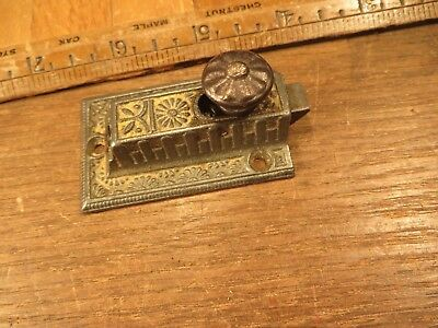 Antique Ornate Cast Iron Cabinet Cupboard Spring Latch Old Restoration Hardware