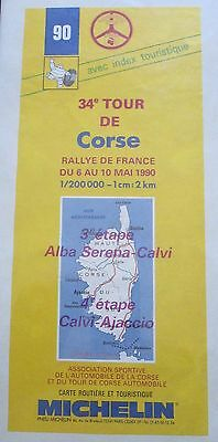 Foglietto 34 Tour De Corse Rallye De France 1990 3/4 Tappa Michelin Rally