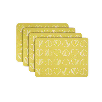 Beau & Elliot Confetti Outline Mustard Placemats, Set of 4 Dining Table Home