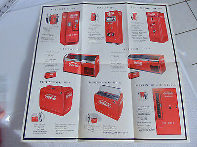 Revised 1991 Vintage Coca-Cola Machines by Ebner, Wright 8 Coolers & Machines