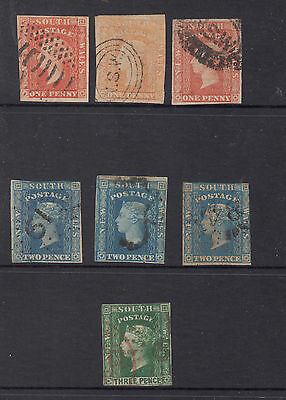 NSW 1856-60 Range of Imperfs to 3d Value  Mostly Very Fine Used
