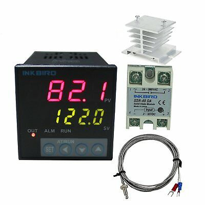 Inkbird F Display PID Temperature Controllers Thermostat ITC-106VH, K Sensor, -