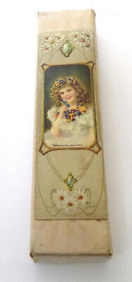 Small Candy Box Nice Art Nouveau Graphics by Wolf & Co. Philadelphia 1904