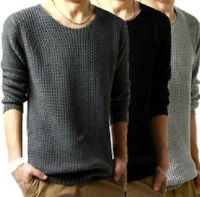 Men Casual Round Neck Fashion Knit Jumper Sweater Pullover Knitwear Coat Tops