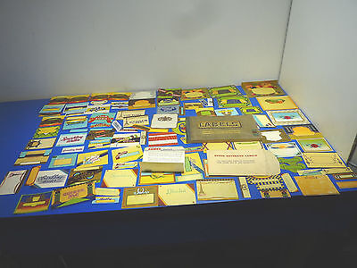 Vintage 1940 Large Lot of Stock Beverage Labels and Label Catalog,New Old Stock