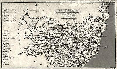 SUFFOLK: Capper. Not That Common. ;1808 map
