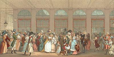 18TH CENTURY FRANCE: The Wooden Gallery. Chromolithograph; antique print 1876