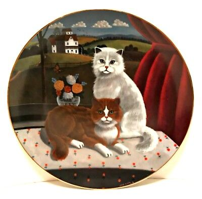 Collector Cat Plate Eyes of The Seasons Summer 1981 Limited Edition Numbered