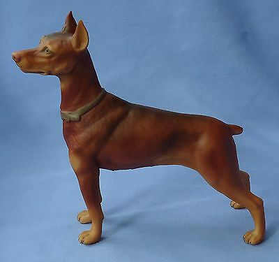 Rare Red Doberman Pinscher Boehm Dog 8""