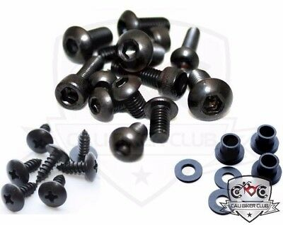 Black Fairing Bolt Kit Body Screws Bolts Washers for Honda CBR1000RR 2006-2007