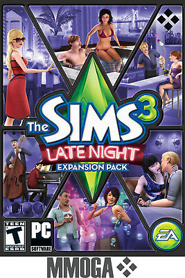 The Sims 3 Late Night Expansion Pack - PC Origin Addon Digital Key - US & CA
