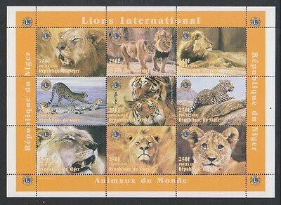 Niger - 1998, Animals of the World - Lions & Tigers sheet - MNH