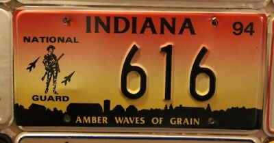 USA Auto Kennzeichen Indiana  >> National Guard << Amber Waives of Grain