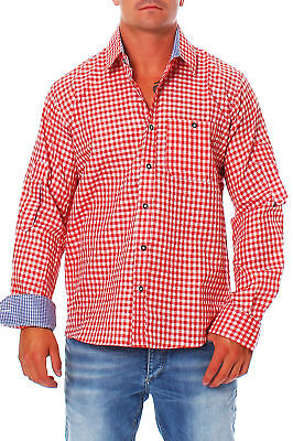 Men's Traditional Garb Shirt Top Engelleiter Red Red-White Check