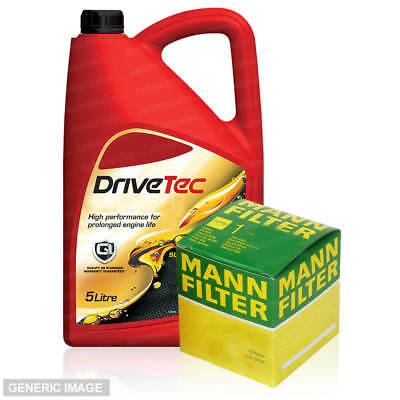 Service Kit Mann Oil Filter DT 5L 5W-40 Fully Synthetic For Citroën C3 I