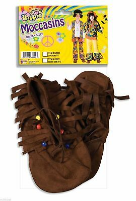 Moccasin Hippie Shoe Covers Indian Native American Child Costume Accessory