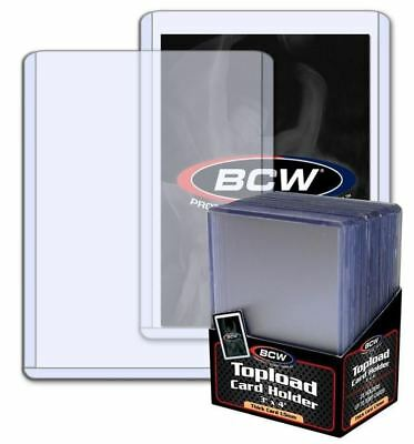(Pack of 25) BCW Thicker 59pt 1.5mm Toploaders 3x4 Topload Trading Card Holders
